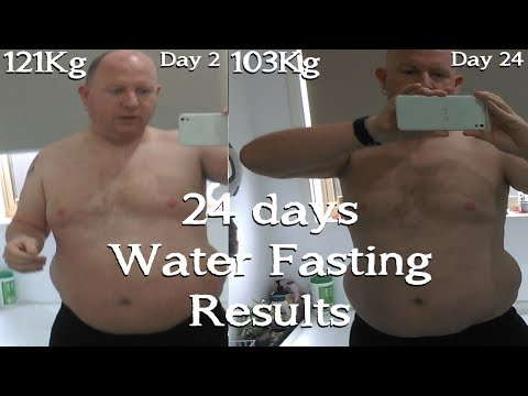 Water Fasting for 24 day (18Kg weight loss) (Ketobbey)