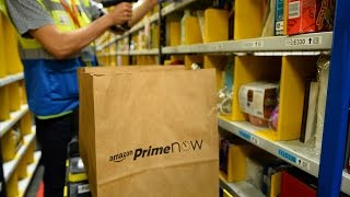 Exclusive Look Inside Amazon's Prime Now Fulfillment Hub In Manhattan