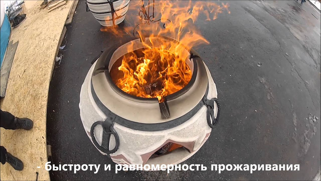 Как печь лепешки в тандыре видео