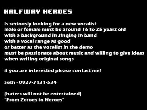 Halfway Heroes- Looking for a talented Vocalist