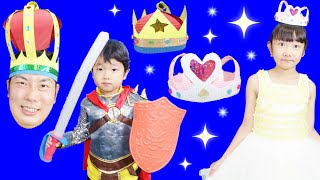 ★「ひめ&ティアラを守れ!」段ボールで宝石ティアラ&王冠作り~★#YTSummerSchool★