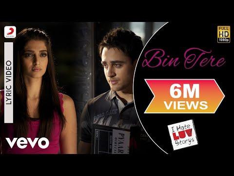 I Hate Luv Storys - Bin Tere Lyric | Sonam Kapoor, Imran Khan
