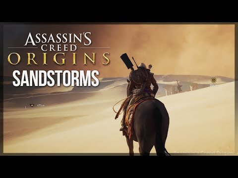Assassin's Creed Origins   DYNAMIC WEATHER! - NEW Screenshots of Desert GAMEPLAY + Sandstorms!