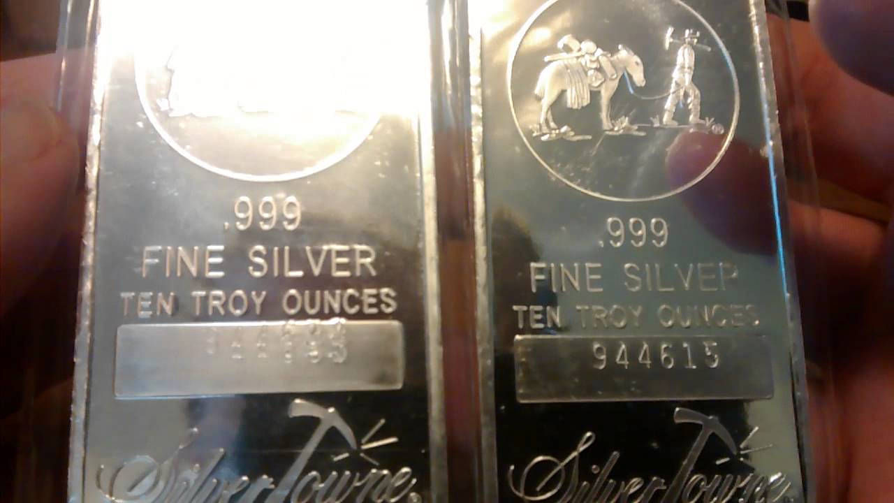 Silvertowne Com 10 Oz Silver Bar Unboxing 20 Ozs Youtube