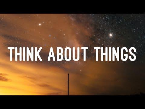 Daði Freyr - Think About Things (Lyrics)