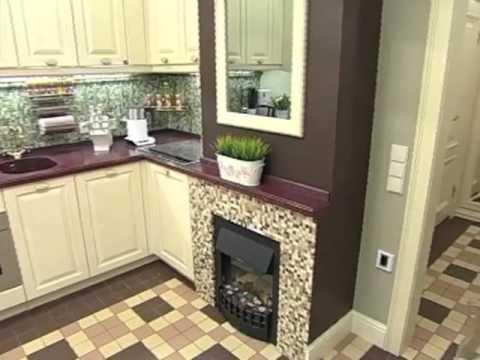 Квартирный вопрос. Кухня с камином. 04.2012
