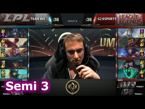Team WE vs G2 eSports | Game 3 Semi Finals LoL MSI 2017 Play-Offs | WE vs G2 G3 Semi