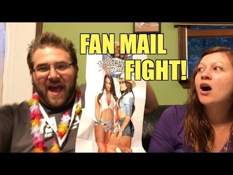 WIFE MAD about BELLA TWINS POSTER?? Grim OPENS Awesome WWE Figure Fan Mail!