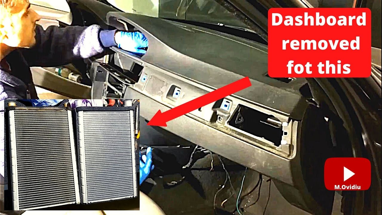 Bmw E90 320d Heater Core Replace Youtube