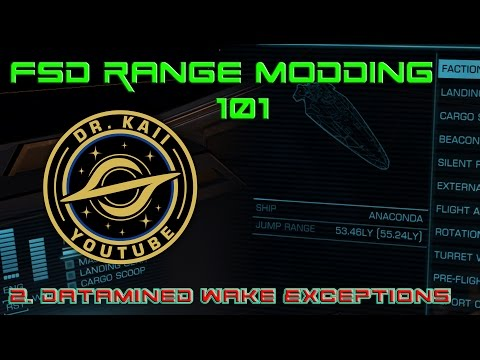 Elite: FSD Range Modding 101 - Datamined Wake Exceptions from Distribution Centers