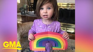Neighborhood rainbow hunts spread hope amid COVID-19 crisis l GMA Digital
