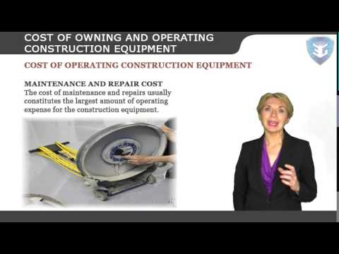 COST OF OWNING AND OPERATING CONSTRUCTION EQUIPMENT New