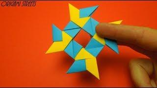 Как сделать сюрикен из бумаги - оригами