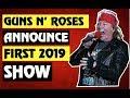 Guns N' Roses BREAKING NEWS GNR Announces 1st 2019 Show! Louder Than Life Festival