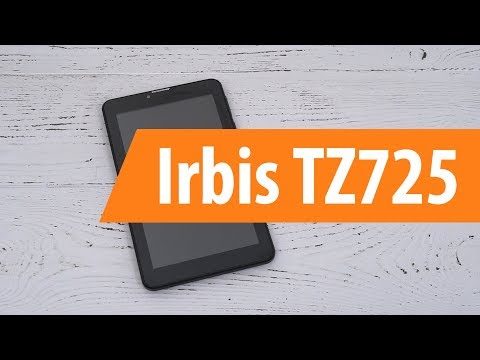 Распаковка планшета Irbis TZ725 / Unboxing Irbis TZ725