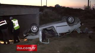 Aksaray'da otomobil takla attı, 2 ölü, 4 yaralı