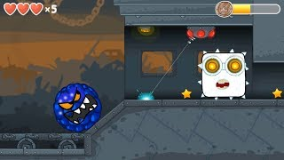 """Blue Bilberry ball & """"WHITE BOSS"""" in Flawless Victory in Red Ball 4 Chapter 3 Box Factory"""