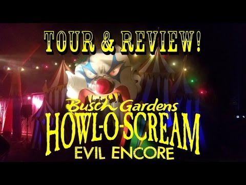 Howl-O-Scream Busch Gardens Tampa Bay 2016 Complete Park VIP Tour & Review!!!