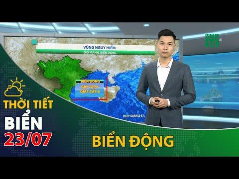 Thời tiết biển ngày 23/07/2021: ATNĐ ở ngay trên vùng biển tỉnh Quảng Ninh| VTC14