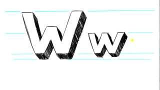 How to Draw 3D Letters W - Uppercase W and Lowercase w in 90 Seconds