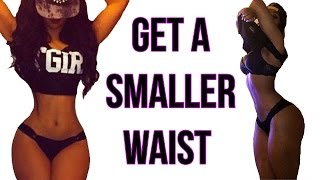 How To Get A Small Waist | 4 Workouts That Gives You A TINY Waist! thumbnail
