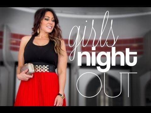 Girls Night Out: Hair, Makeup & Outfit |...