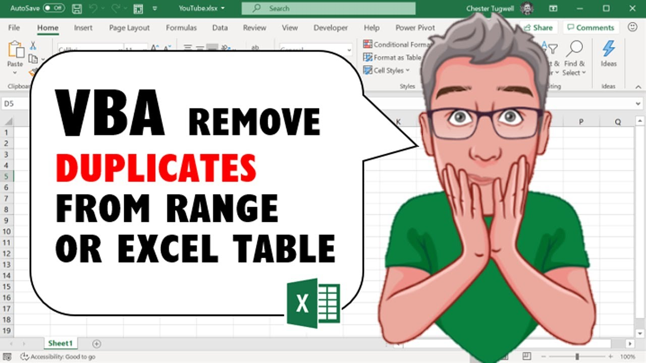 Excel VBA Code to Remove Duplicates from Range or Excel Table