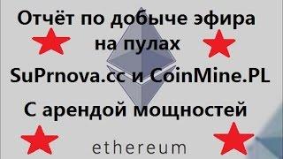 Ethereum - отчёт по добыче с помощью аренды мощностей на MiningRigRentals