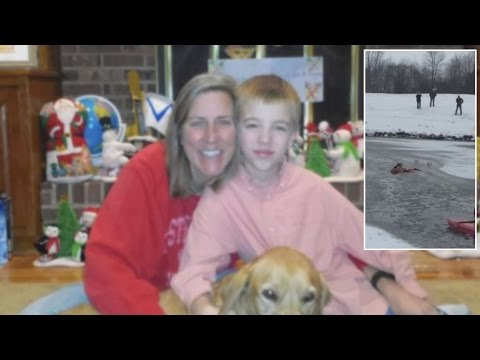 Thumbnail: 8-Year-Old Boy Hailed A Hero For Calling 911 To Save Mom And Dog From Icy Lake