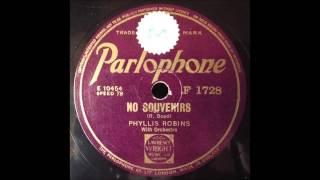 No Souvenirs, Phyllis Robins, 1940