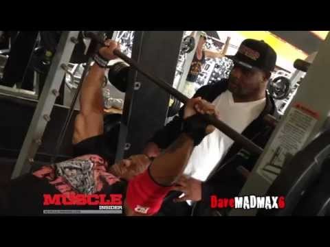 Lionel Brown trains chest at the Mecca