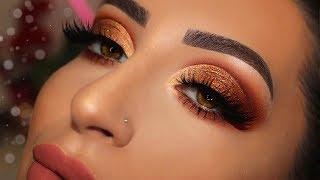 Glitter Copper Makeup Tutorial | Melissa Samways