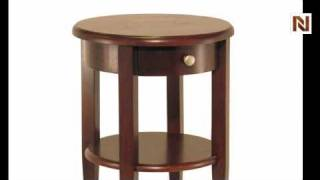 Winsome Concord Round End Table With Drawer And Shelf 94217