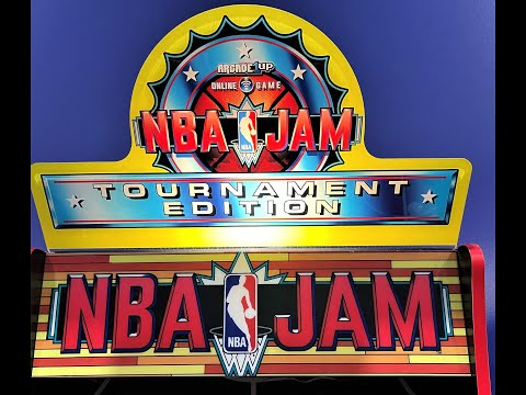 NBA JAM MOD with Lit Topper, Lit Front Riser. ARCADE1Up from Arcade Will