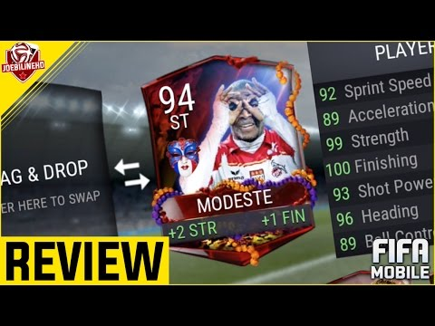 FIFA MOBILE 91 FRENCH MASKED MASTER MODESTE REVIEW #FIFAMOBILE CARNIBALL 91 MODESTE PLAYER REVIEW