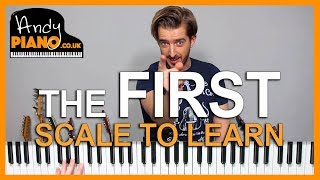 The FIRST SCALE You Should Learn on Piano - and WHY