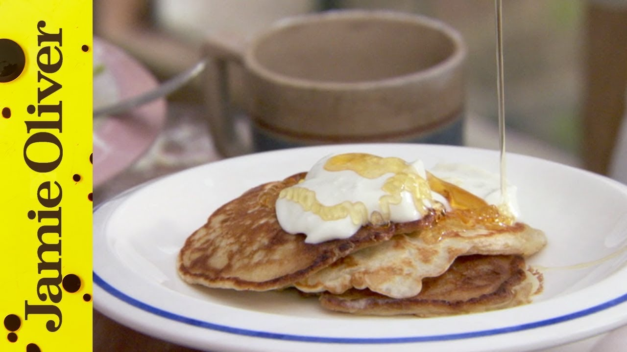 How to make one cup pancakes jamie oliver youtube ccuart Image collections