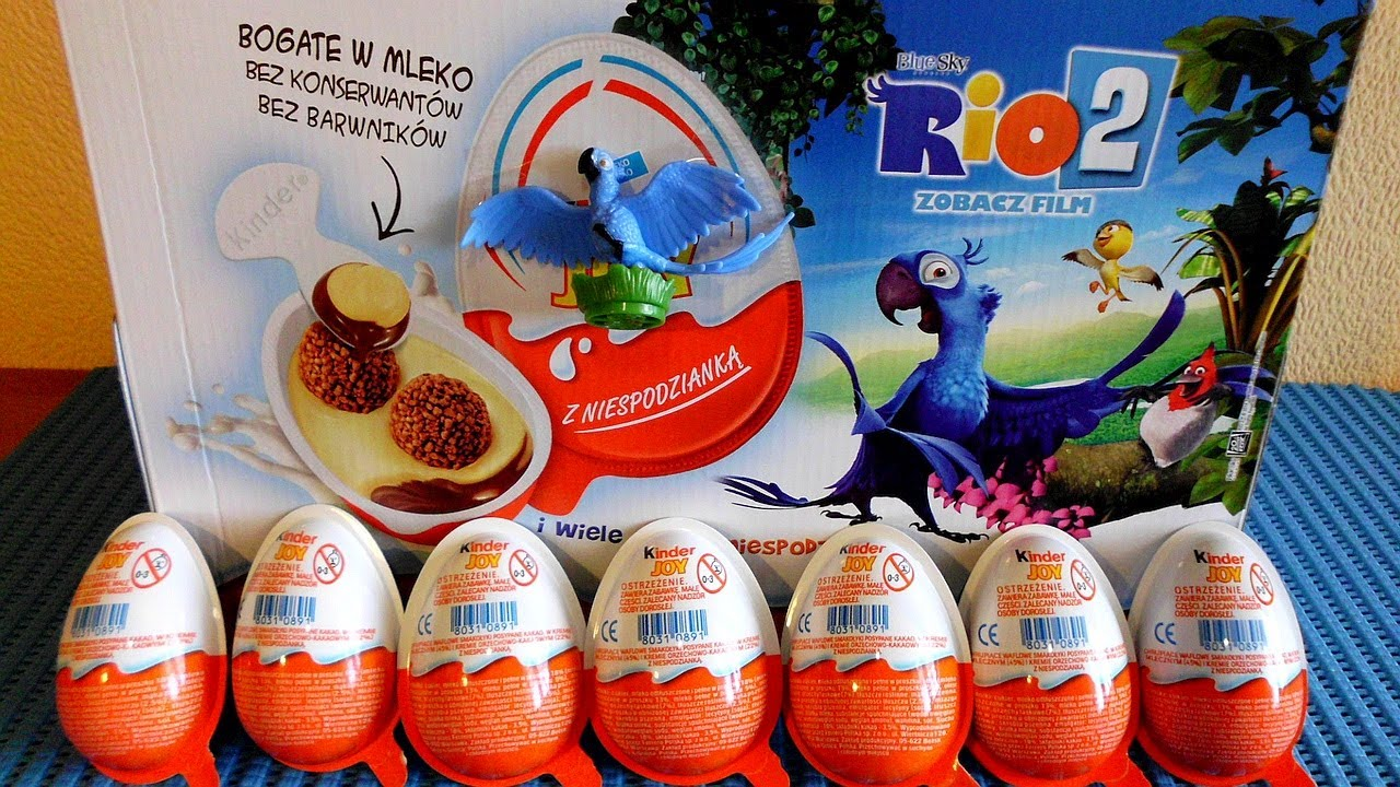Kinder Egg With Toy Rio 2 Movie 12 Kinder Surprise Eggs Toys To Collect In