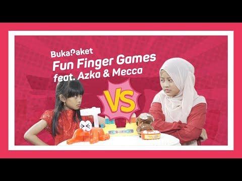 Mainan Anak Jaman Now: Fun Finger Games feat. Azka Mecca | BukaPaket for Kids
