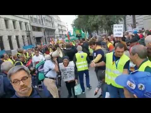 Miles de pensionistas piden en Madrid blindar as pensións ao IPC