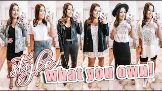 SHOPPING YOUR OWN CLOSET   HOW TO STYLE PIECES YOU ALREADY OWN!