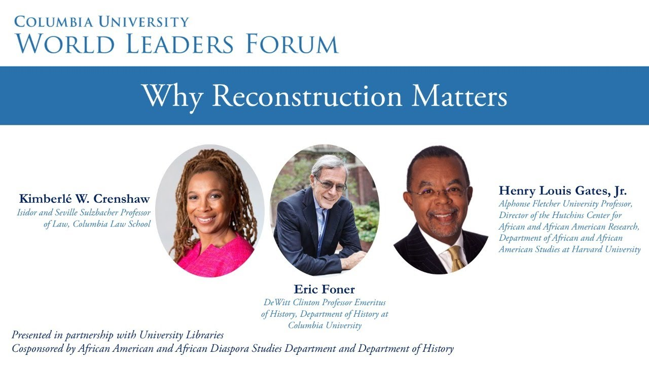 World Leaders Forum: Why Reconstruction Matters