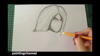 How to draw Mileena Part 1 (Real Time)