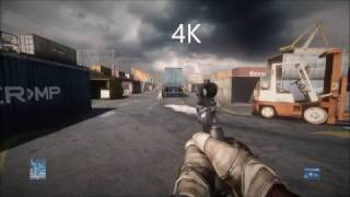 Battlefield 3 - 4K vs 1080p Comparison
