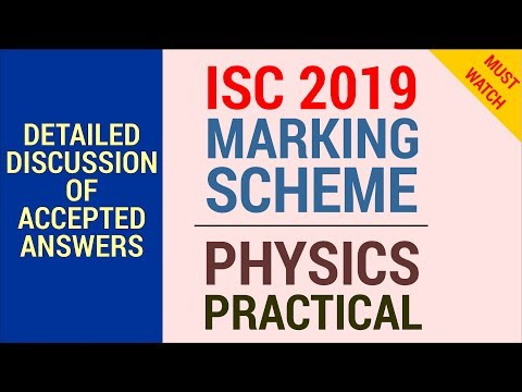 Marking Scheme Accepted Answers ISC 2019 Physics