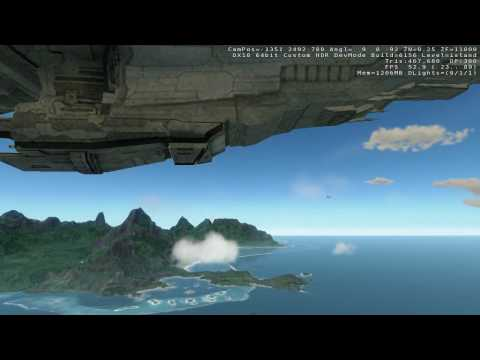 Crysis - Full size EVE Online amarr battleship, dread and titan