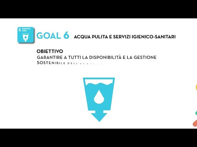 SDG's Goal 6: Acqua pulita e igiene