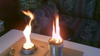 "Homemade ""tin Can"" Air Heaters! - Survival/shtf Air Heater/stove - Simple ""cardboard And Wax"" Design"
