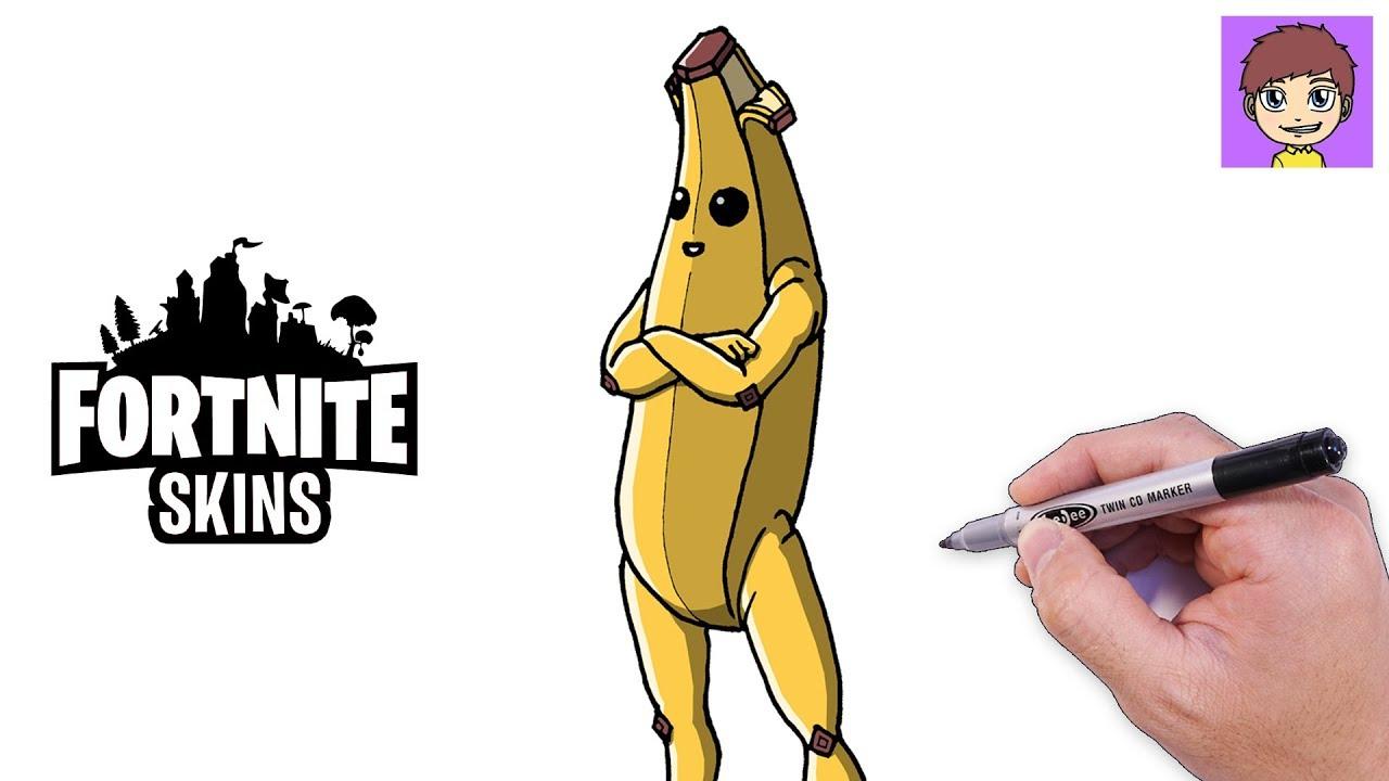 peely fortnite banana - dibujos para colorear fortnite temporada 8