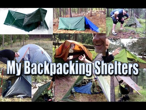 Shelters/Tents/Tarps I've Used For Backpacking - from March 2013 to January 2015
